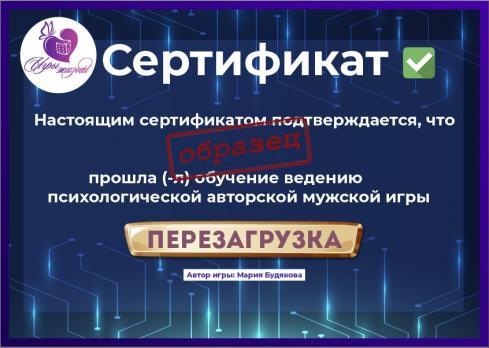 """Обучение и сертификация игре """"ПЕРЕЗАГРУЗКА"""""""